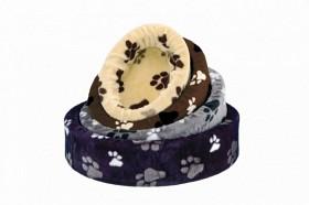 Hundbädd Plysch Oval med tass 70cm