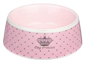 Keramikskål Dog Princess 0,45liter 16cm ROSA
