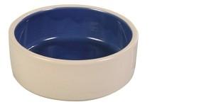 Keramikskål Vit/Blå 1,2liter 18cm