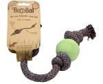 Naturgummiboll med rep