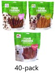 Four Friends Twisted Stick 12,5cm 40-pack
