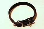 Läderhalsband SVART 18mm