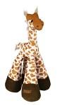 Leksak Plysch-Giraff långbent m skallra 33cm