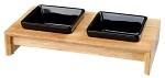 Matbar i trä ink skålar 2 x 0,4 l