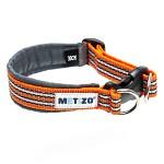 Metizo Dezign Hundhalsband m knäppe, Orange