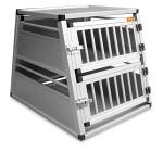 Dogman Transportbur aluminium 2-våning 82 (55,5 upptill) x 68 x 57cm