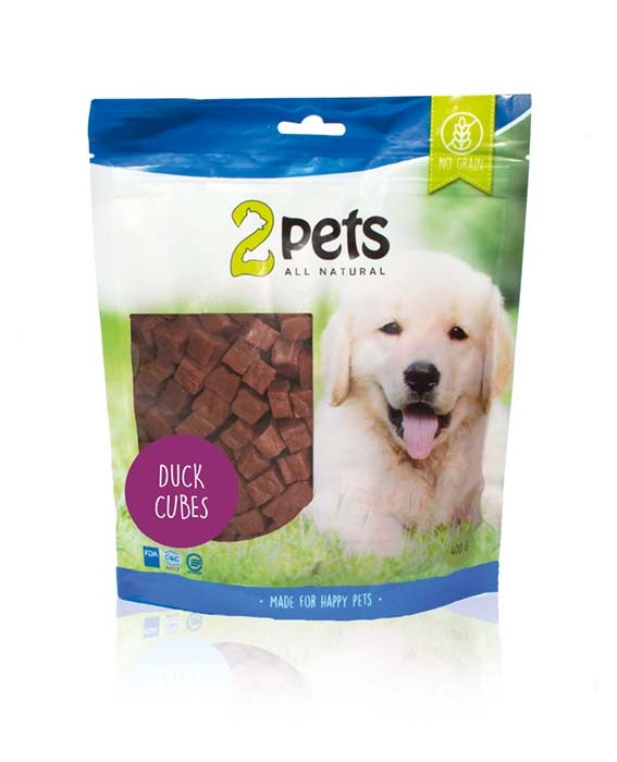 2pets Dogsnack Cubes 400 g