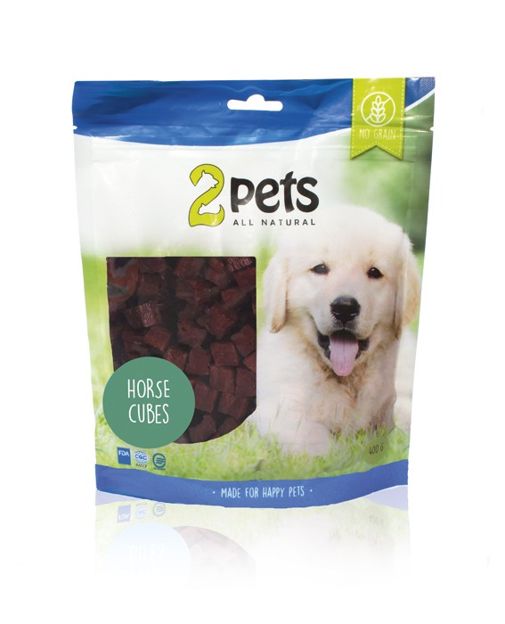 2pets Dogsnack Cubes - Unika proteinkällor, 400 g