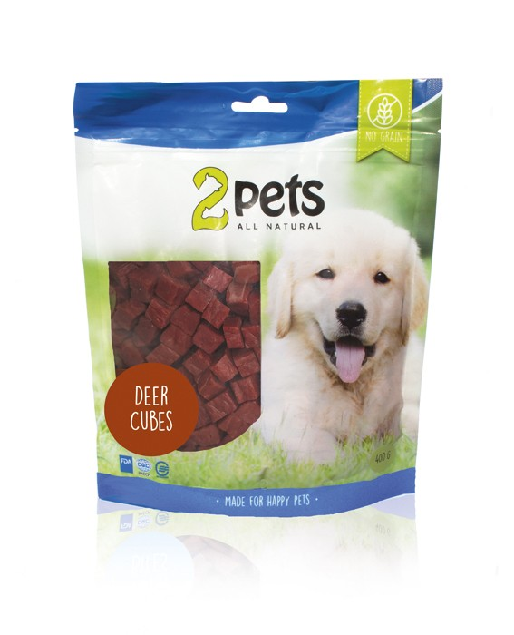 2pets Dogsnack Cubes 400g