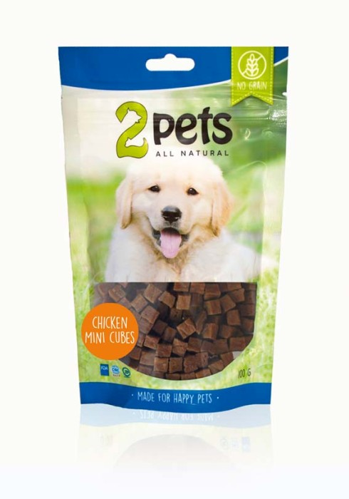 2Pets Dogsnack Mini Cubes 100gr