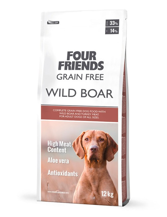 Four Friends Grain Free Wild Boar 12kg