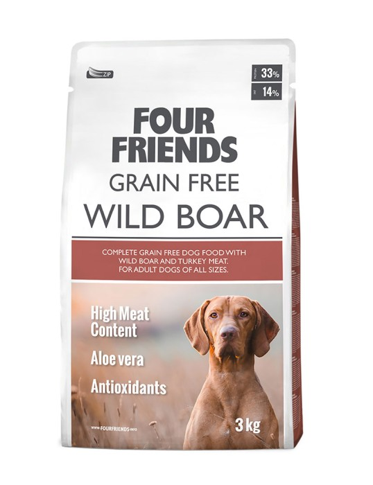 Four Friends Grain Free Wild Boar 3kg