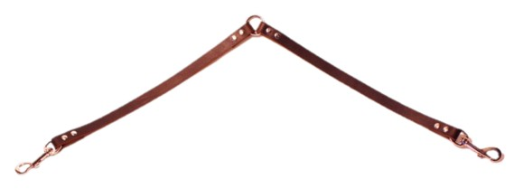 Alac Mellankoppel Läder Mörkbrunt 12mm x 60cm