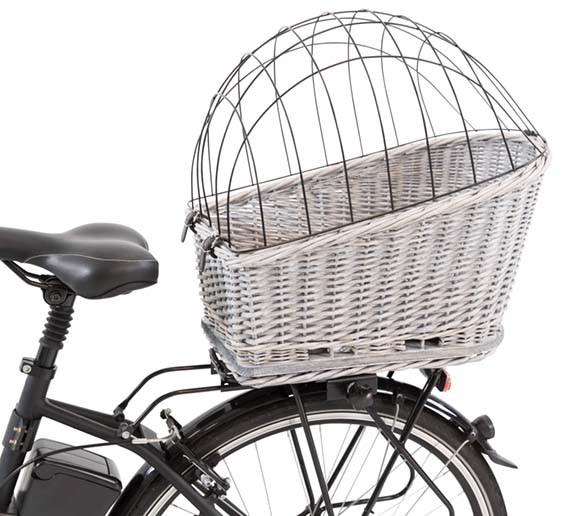 Cykelkorg m dyna 35xh49x55cm Grå