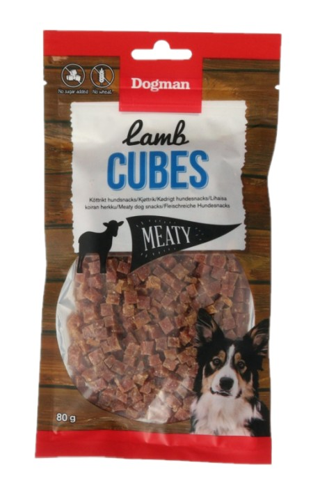 Dogman Lamb Cubes 80gr
