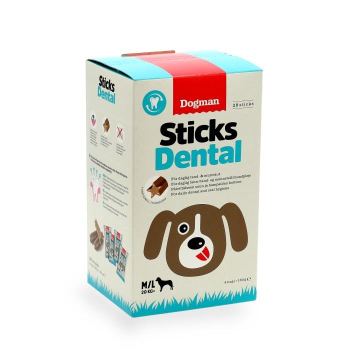Dogman Sticks Dental Box 28-pack M/L