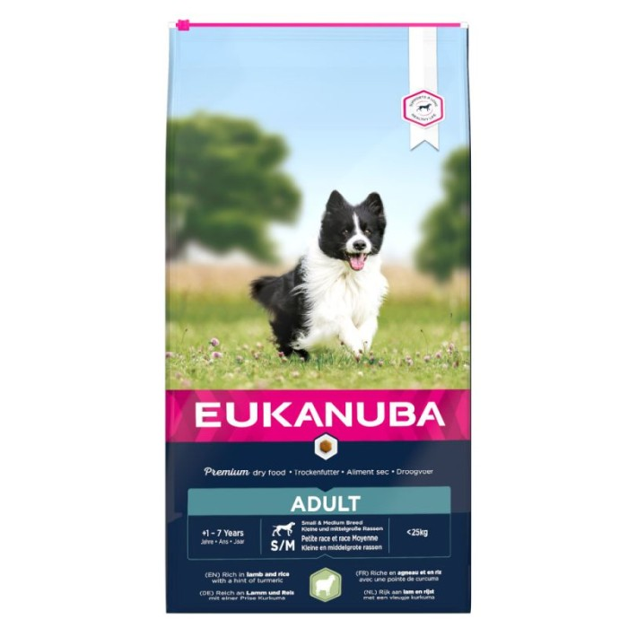 Eukanuba Adult Lamb & Rice S/M, 18kg