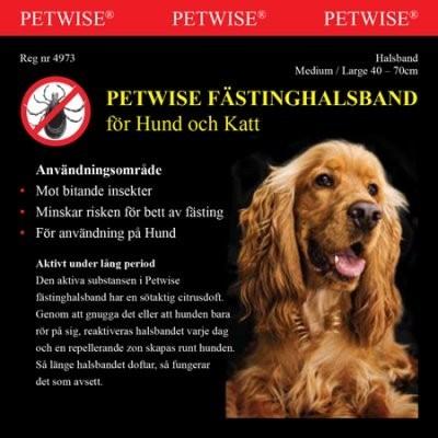 Fästinghalsband Petwise 45-70cm