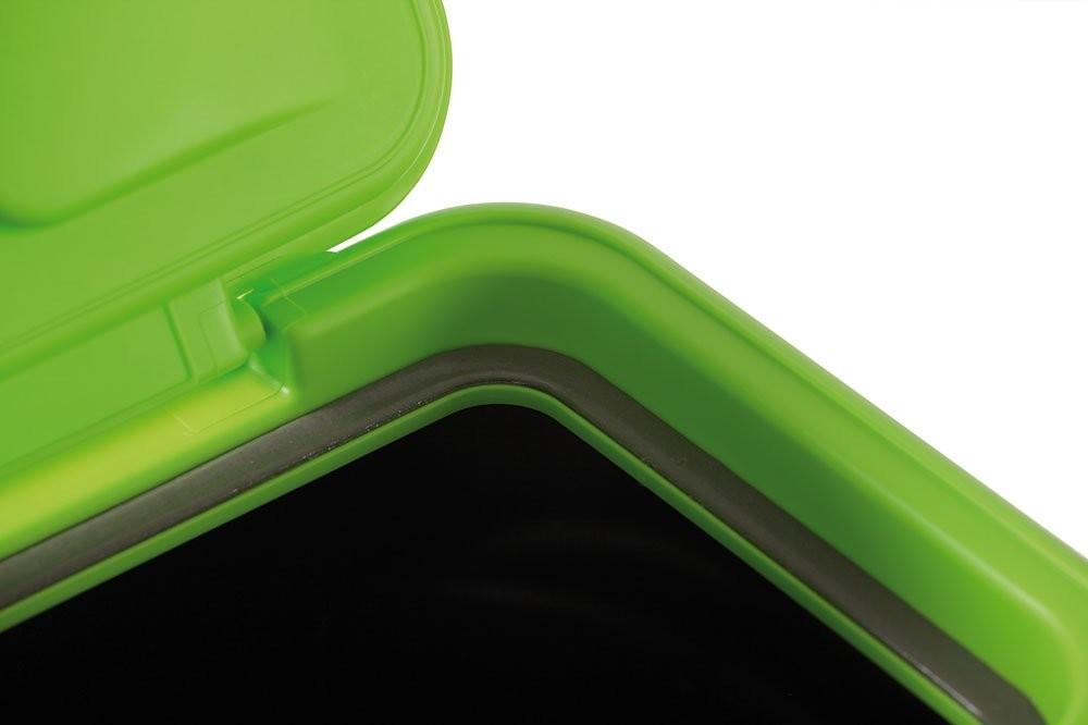 Fodertunna Svart/Grön m tättslutande lock 20kg - 97liter