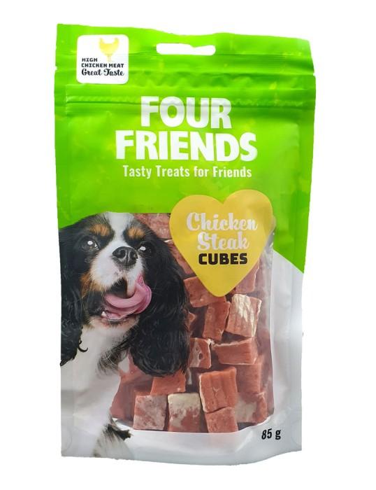 FourFriends Hundgodis Steak Cubes 85g