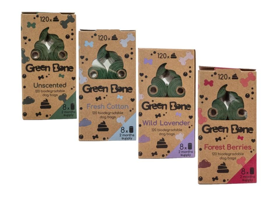 Green Bone Biobajspåsar Refill 8-pack