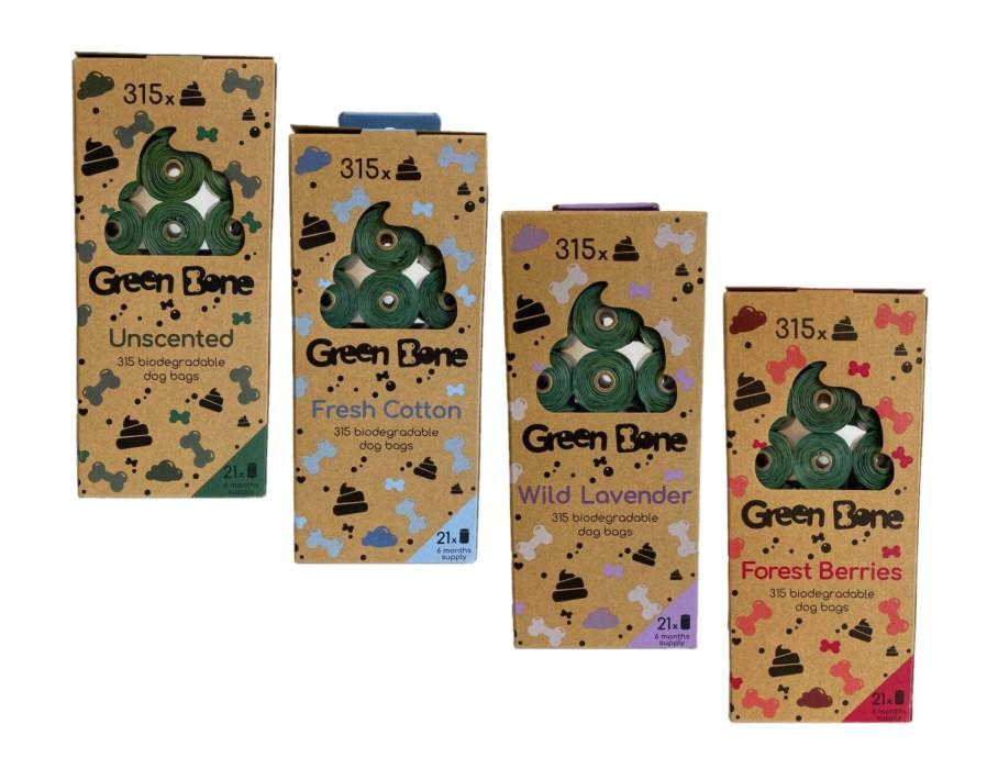 Green Bone Bajspåsar Nedbrytbara Refill, 21x15-pack