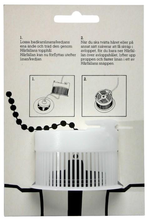 Hårfällan för badkar