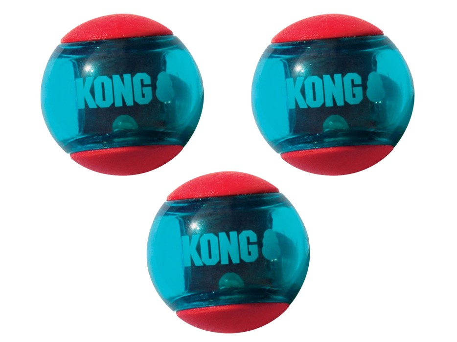 Kong Squeezz Action Boll S, 3-pack