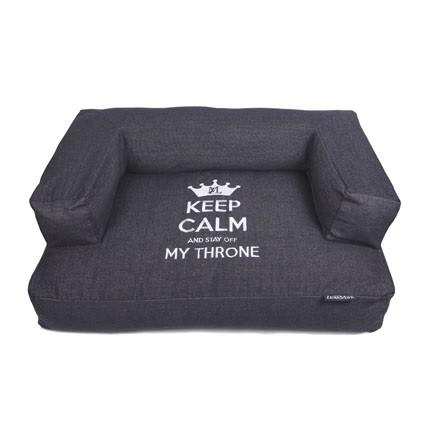 Lex & Max Sofa Keep Calm 100 x 70 x 35cm Black