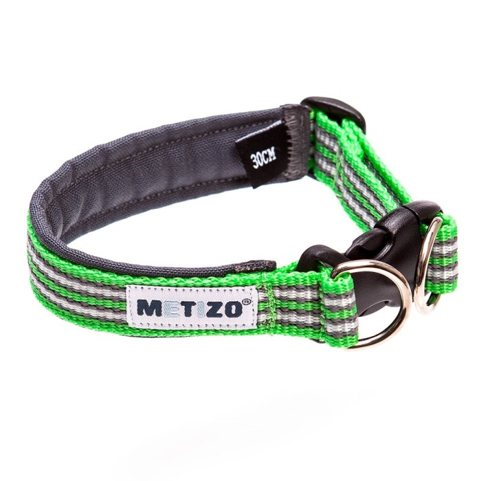 Metizo Dezign Hundhalsband m knäppe, Grön