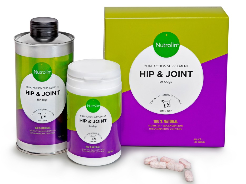 Nutrolin Hip & Joint 450ml olja + 180tab