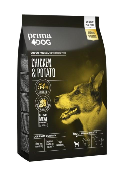 PrimaDog Adult Small Breeds Kyckling & Potatis 1,5kg
