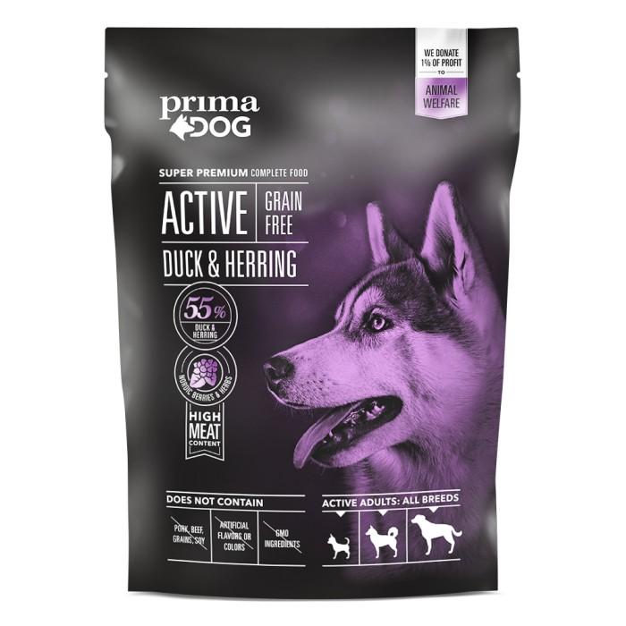 PrimaDog Active Grain Free Anka & Strömming 1,5kg