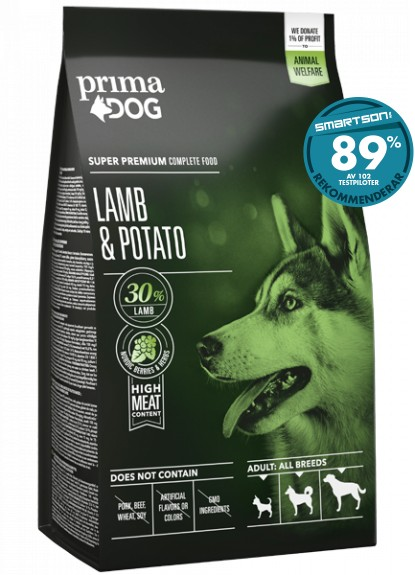 PrimaDog Adult All Breeds Lamm & Potatis 12kg