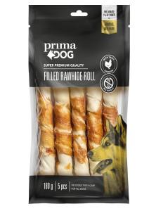 PrimaDog Fylld Tuggrulle m Kyckling 13cm 5-pack