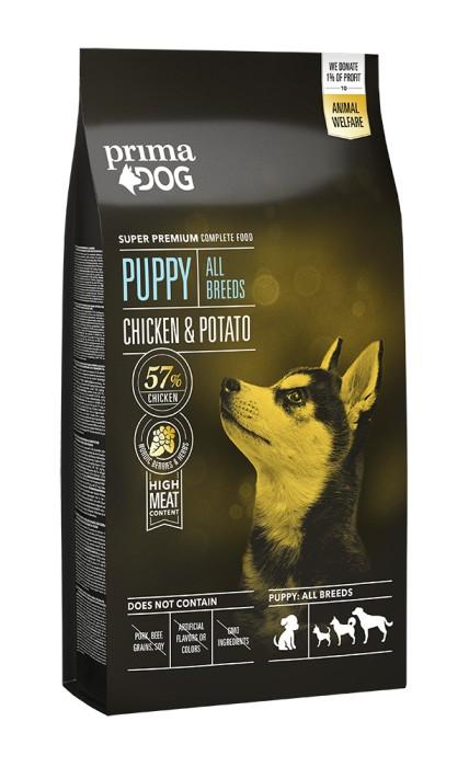 PrimaDog Puppy All Breed Kyckling & Potatis 10kg