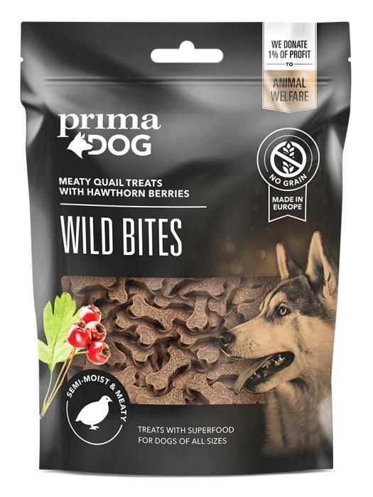 PrimaDog Wild Bites, Vaktel 150gr