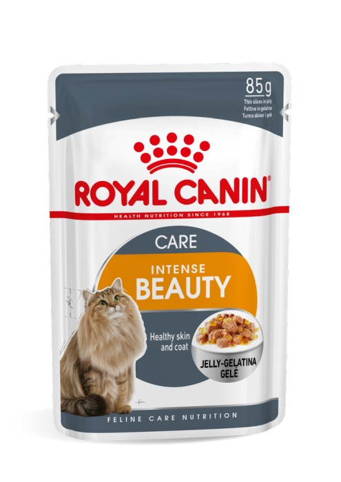 Royal Canin Intense Beauty Jelly Våtfoder, 12x85g