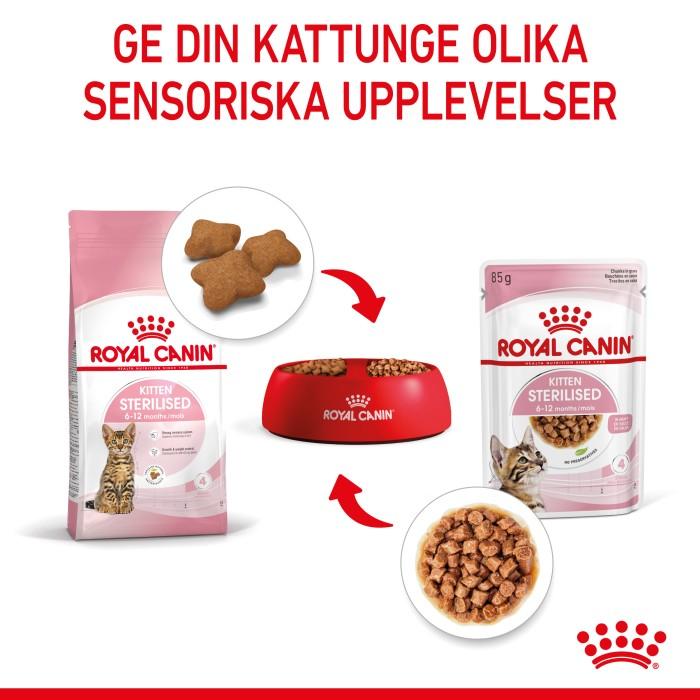 Royal Canin Kitten Sterilised Gravy Våtfoder 12x85gr