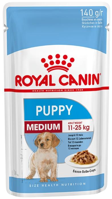 Royal Canin Medium Puppy 10x140g - Våtfoder
