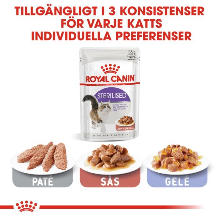 Royal Canin Sterilised Gravy Våtfoder, 12x85g