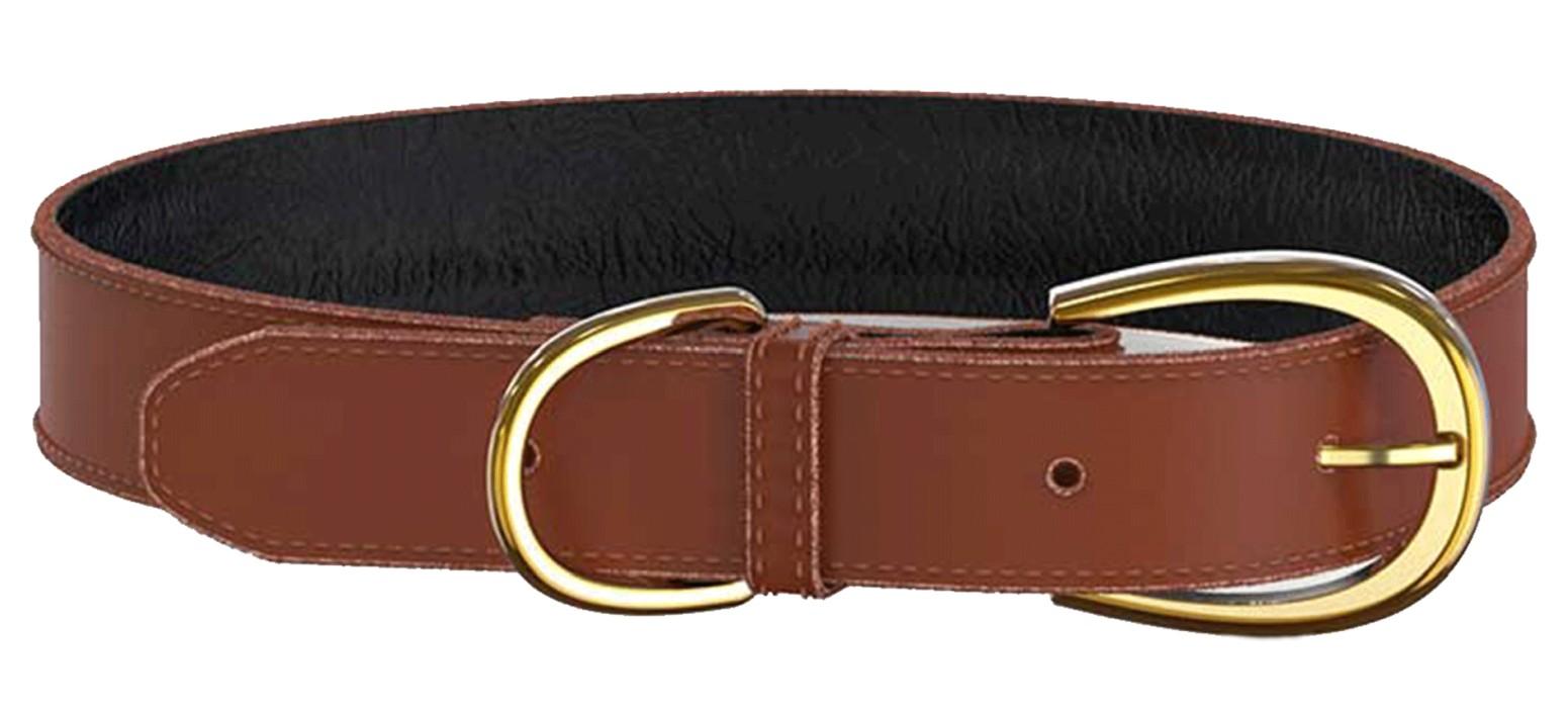 Swaggin Tails Läderhalsband Brun