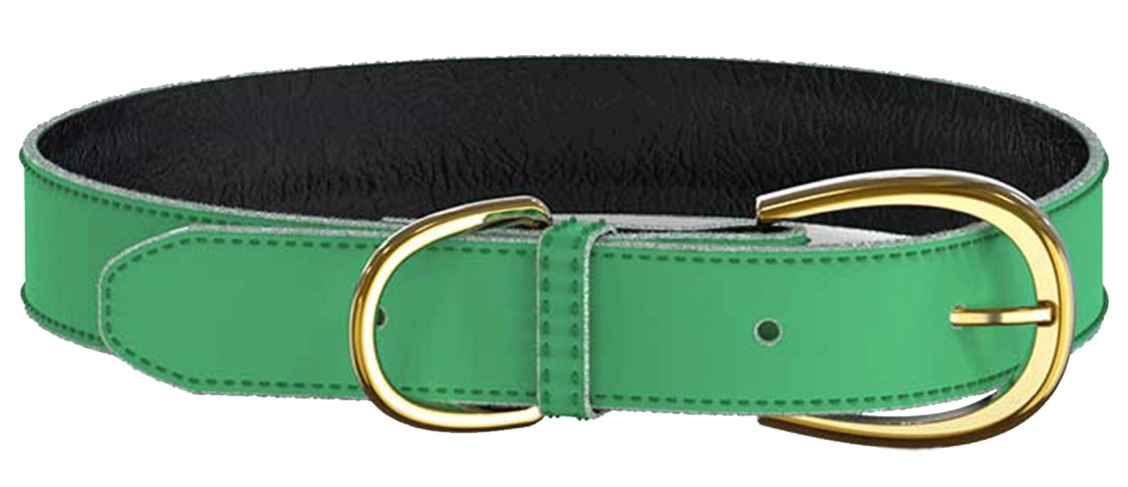 Swaggin Tails Läderhalsband, Grön