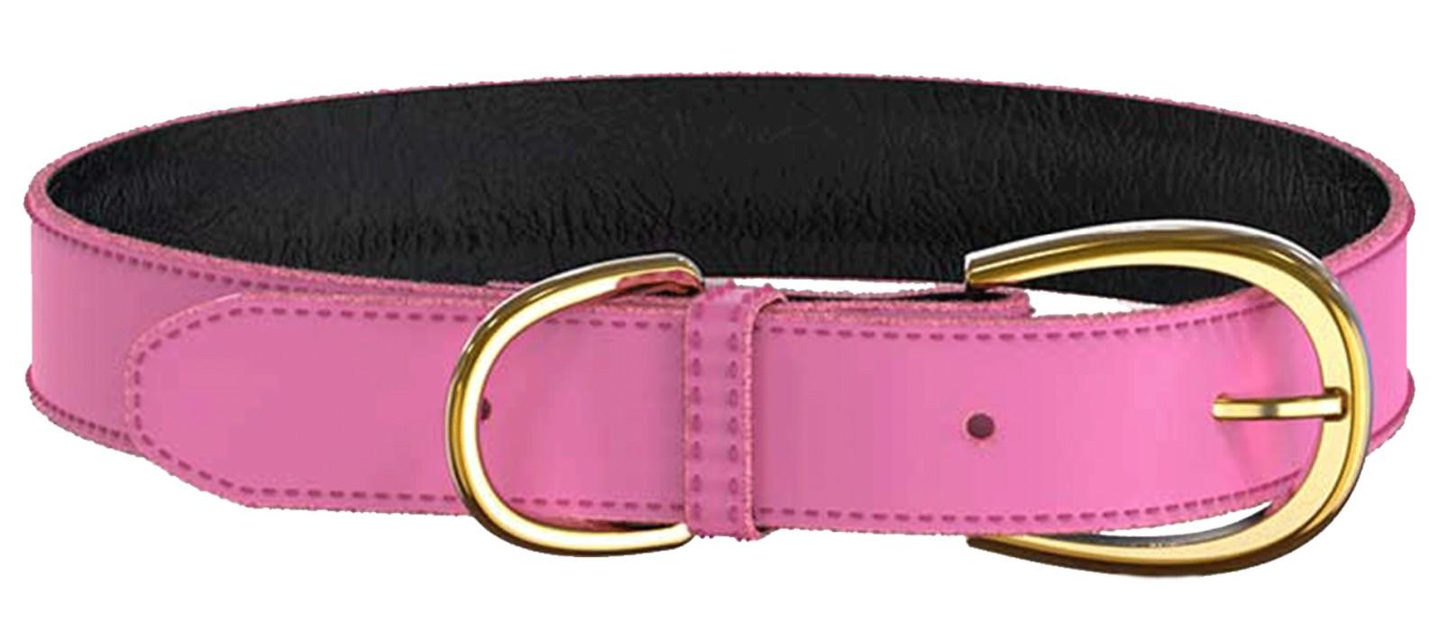 Swaggin Tails Läderhalsband, Rosa