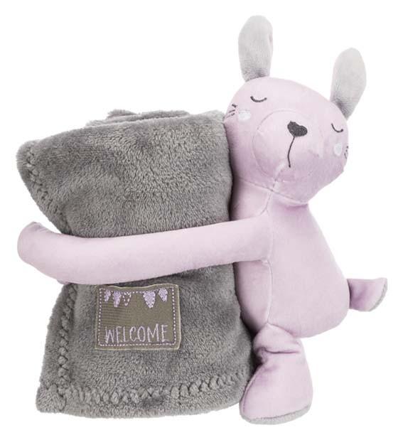 Trixie Junior Cuddly Set 75 x 50cm Grå/Ljuslila