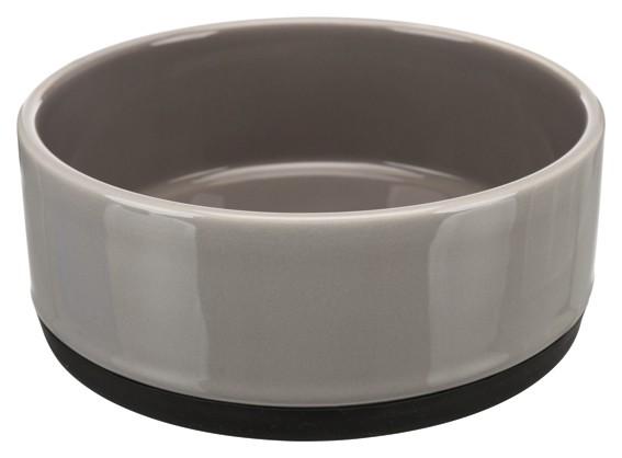Trixie Keramikskål m gummibotten Grå, 0,75l