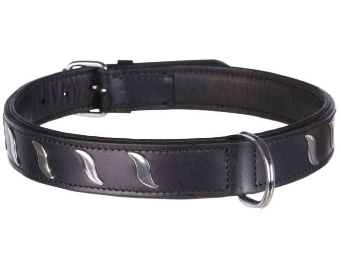 Trixie Läderhalsband m dekor, 57-66cm