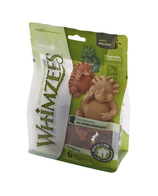 Whimzees Tuggben Igelkott L 6-pack